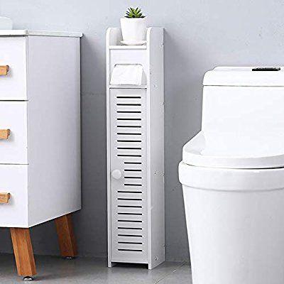 White Small Bathroom Storage Corner Floor Cabinet With Doors And Shelves Toilet Tissue Storage Small Bathroom Storage Bathroom Floor Cabinets Bathroom Storage