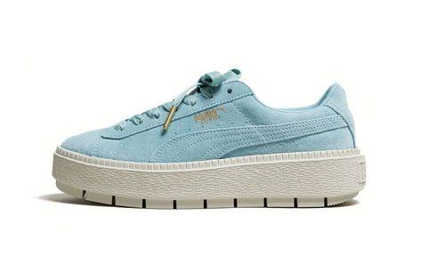 PUMA Suede Platform Trace Women's #women #shoes #aqua