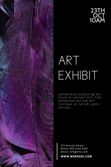 Art Exhibit Flyer Design Template