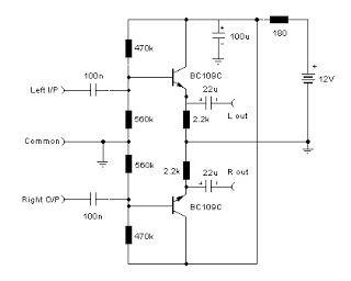 Pre Amp Schematic Audio Stereo Line Driver Simple Schematic Collection Audio Amplifier Stereo Amp Electronic Circuit Design