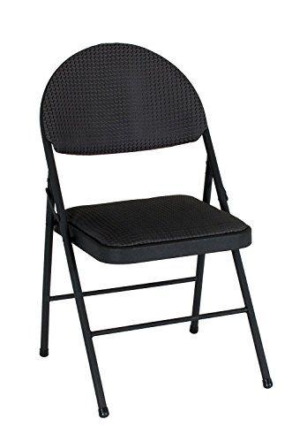 Cosco Xl Comfort Folding Amtnyx Chair Black Fabric 4 Count 2