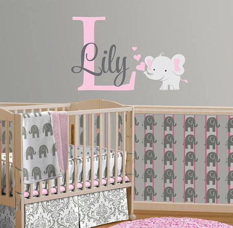 My First Animal TableTop Decor Nursery Set Grey Giraffe Elephant Wood Block Baby