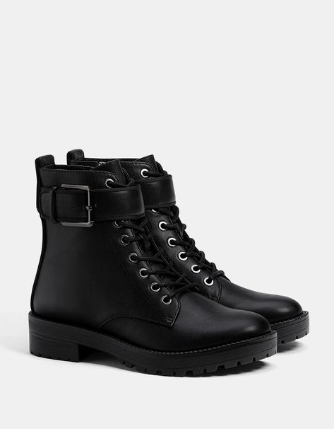 d1cd095a New Look Canada Low Block Heel Lace Up Ankle Boots | footwear
