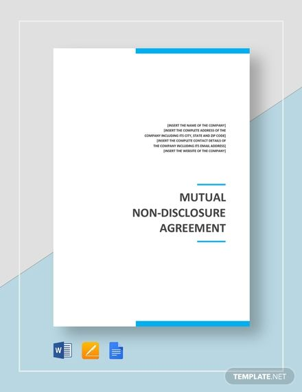 Mutual Non Disclosure Agreement Template Free Pdf Google Docs Word Apple Pages Template Net Non Disclosure Agreement Words Agreement