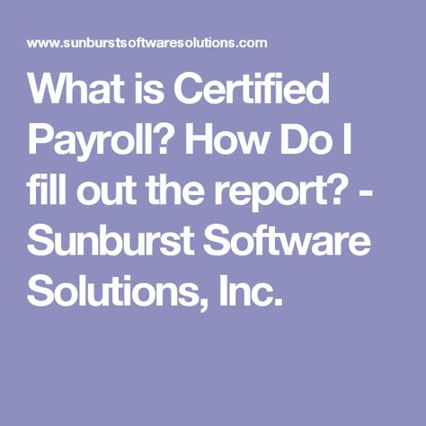 20 best Certified Payroll images on Pinterest Software - certified payroll form