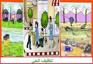 مدونة تعليم كوم تعبير عن تنظيف الحي الطور الابتدائي Blog Painting Art