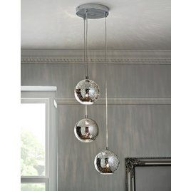 Buy Argos Home Imogen Mercury 3 Light Ball Pendant Light Chrome Ceiling Lights Chrome Pendant Lighting Ball Pendant Lighting Pendant Light