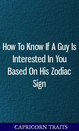 how do you know if a guy is interested