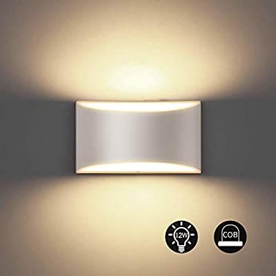 Amazon Com Bjour Modern Led Wall Sconce 12w White Up Down Wall