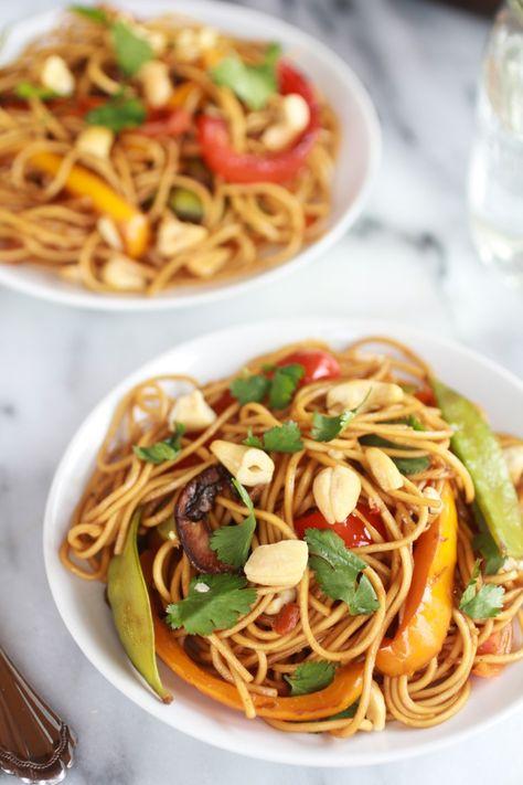 Spring Vegetable Lo Mein- looks good but has several specialty ingredients