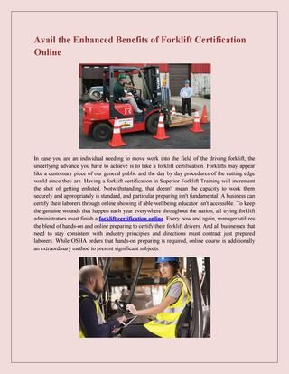 Find the Best Forklift Training Course | Training courses