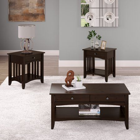 Home Coffee End Tables Solid Wood Coffee Table End Table Sets