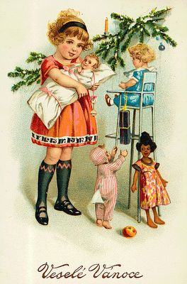 Czech Christmas postcard