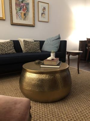 Gold Hammered Metal Cala Coffee Table By World Market Side Table