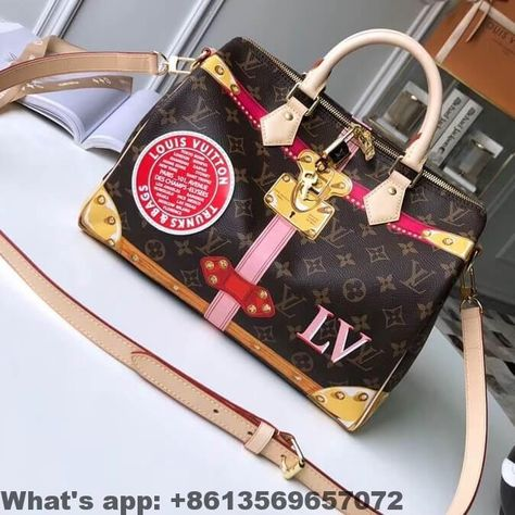 Louis Vuitton Summer Trunks Monogram Canvas Speedy Bandouliere 30 Bag  M41386 2018 aff385d63a7c4