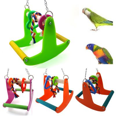 Parrot Articles Bird Toys Gnaw Toys Swing Stand Bar Rocking Chair Seesaw Bird Toys Barred Rocks Bird Supplies