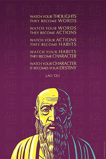 Buy 'Lao Tzu quote: Watch your thoughts' by Elvin Dantes as a Poster, Art Print, Canvas Print, Framed Print, Photographic Print, Metal Print, Greeting Card, or Drawstring Bag
