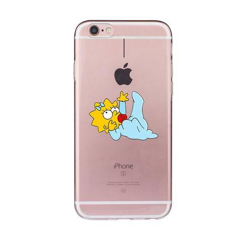 Homer Case for iphone 6 6s 5 5s SE 7 plus Cartoon Fundas Simpsons