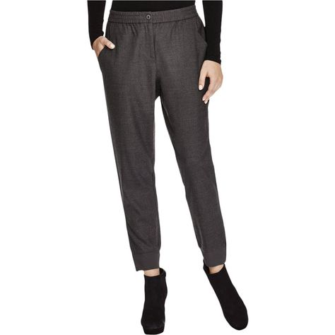 top-rated modern style best sell Eileen Fisher Womens Merino Wool Ribbed Trim Jogger Pants ...