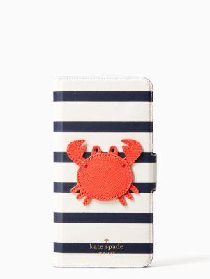 quality design 97dc9 16988 crab applique folio iphone cases 7 & 8 plus case | Kate Spade New ...