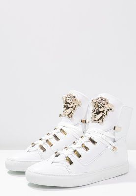 8ba7250d1e85 Versace Korkeavartiset tennarit - bianco - Zalando.fi   Sneakers ...