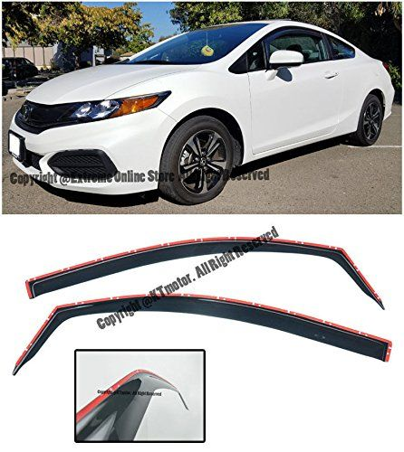 Amazon Com For 2012 2015 Honda Civic 2dr Coupe Jdm In Channel Style Side Window Visors Rain Guard Deflectors 2012 2013 2014 2 2015 Honda Civic Honda Civic Jdm