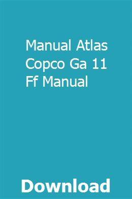 Ga 11 atlas copco pdf