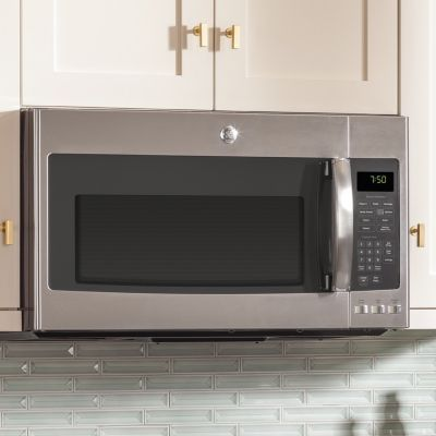 Kitchen Featuring Ge Over The Range Convection Microwave