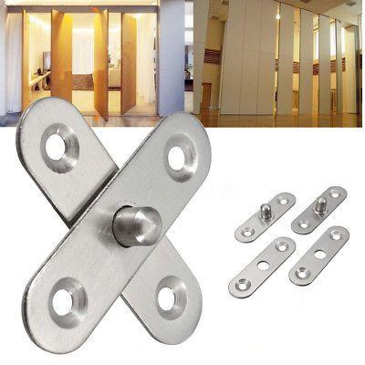 360 Rotating 56mm Length Hardware Stainless Steel Cupboard Door Pivot Hinges Steel Cupboard Stainless Steel Doors Steel Doors