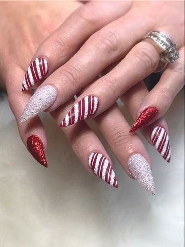 Christmas Nail Designs.Candy Claws By Jdeviva From Nail Art Gallery Christmas