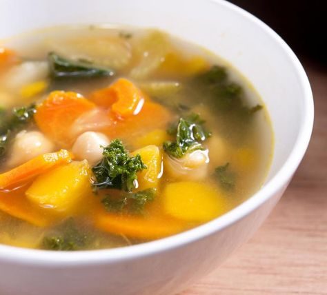Easy Vegetable Soup Recipe In 2020 Easy Vegetable Soup