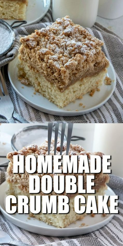 One of the most popular recipes on The Country Cook! This Homemade Double Crumb Cake has double the crumb topping for double the flavor! A New Jersey homemade bakery favorite for generations!