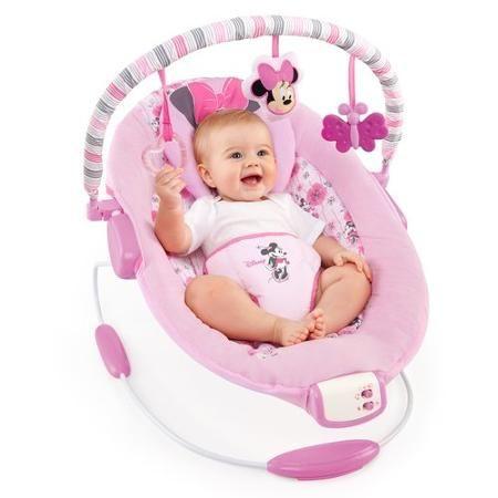 1e30d9609 Disney Baby Minnie Mouse Precious Petals Bouncer 33.65