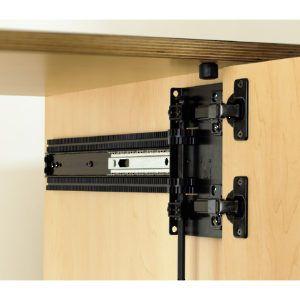 8092 Series Full Extension Pocket Door Slide 4x4 Hinge Base Included Richelieu Hardware In 2020 Pocket Doors Sliding Cabinet Doors Cabinet Door Hardware