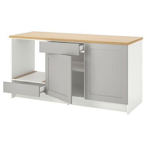 Armadio Ikea Bianco Due Ante.Knoxhult Mobile Base Con Ante E Cassetto Bianco 180 Cm