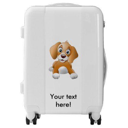 Brown Dog Clipart Luggage Custom Luggage Suitcase Suitcases Bags Trunk Trunks Luggage Custom Luggage Dog Clipart