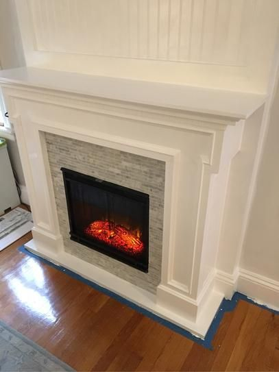 Real Flame Thayer 54 In Electric Fireplace In White 5010e W The