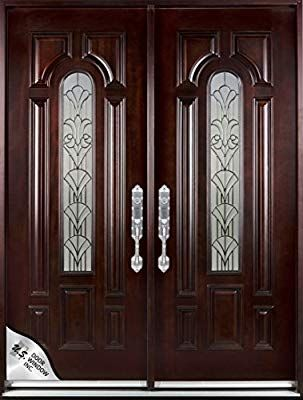 M280a 36 X80 X2 Right Hand Swingin Exterior Front Entry Double Wood Door Ready To Install Amazon Com Wooden Glass Door Door Design Wooden Door Design