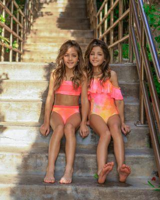 Clements Twins X Pq Swim Girls Colorblocked Two Piece Swimsuit Little Kid Big 100 Exclusive Kids Bloomingdale S Girl Bikini Models Fashion Tween