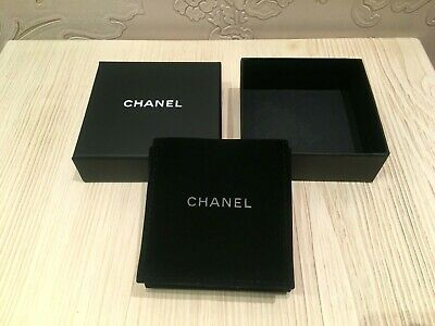 Ebay Advertisement New Rare Empty Chanel Gift Box For Jewelry Storage For Brooch Micro Suede Jewellery Storage Suede Case Microsuede