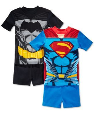 AME Superman Man of Steel Boys 4-Piece Pajama Set Size 4