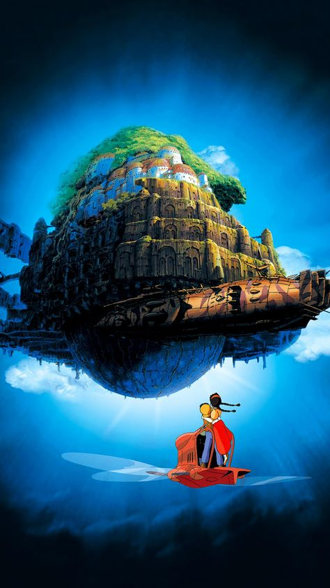 Castle in the Sky (1986) Phone Wallpaper | Moviemania