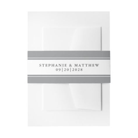 Elegant Wedding Chic Gray Border #elegantwedding #grayandwhite #frame #elegant #chicwedding #calligraphy #typography #simple #borders #mailing