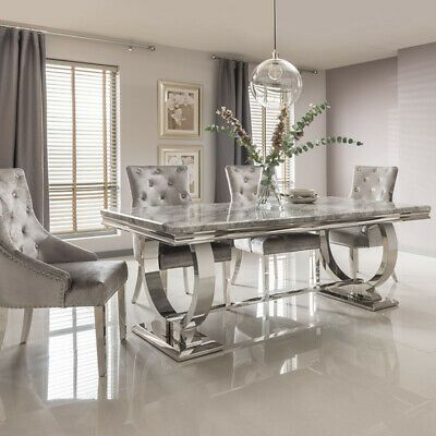 The Arianna Marble Dining Table Is A Sleek And Modern Design Featuring A Marble Top Which Is Available In Dining Table Marble Luxury Dining Room Marble Dining