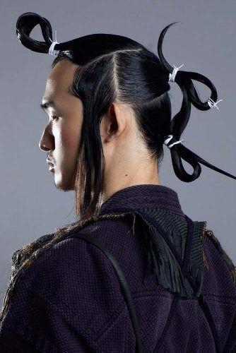 18 Idees De Cheveux De Samourai Amenant Le Chignon A Un Niveau Superieur Cheveux Long Homme Chignon Coiffures Japonaises
