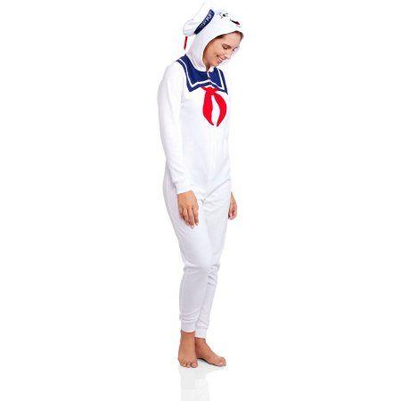 801018b5dbb  19.97 Ghosterbusters Women s Licensed Sleepwear Adult Onesie Costume Union  Suit Pajama