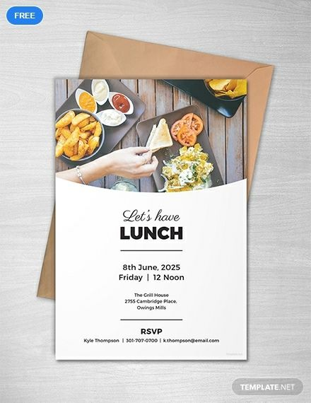 Simple Lunch Invitation Template Free Jpg Illustrator Word Outlook Apple Pages Psd Publisher Template Net Lunch Invitation Invitation Template Printable Invitation Templates