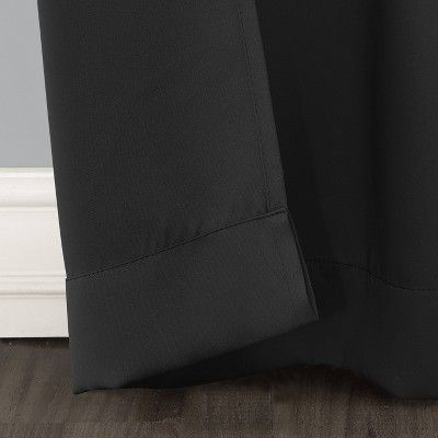 40 X108 Kenneth Blackout Energy Efficient Grommet Curtain Panel Black Sun Zero In 2020 Grommet Curtains Panel Curtains Thermal Drapes