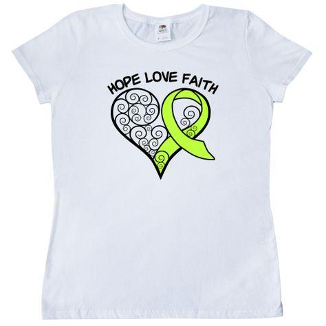 White Heart Disease Awareness Women/'s Tank Top Ribbon Support Hope Tee