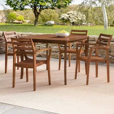 Beachcrest Home Tovar 5 Piece Dining Set 3 Piece Dining Set 5